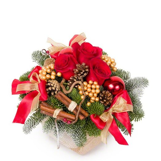 Новогодний подарок: букеты цветов на заказ Flowwow