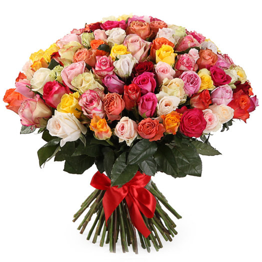 Букет 101 роза (50см)