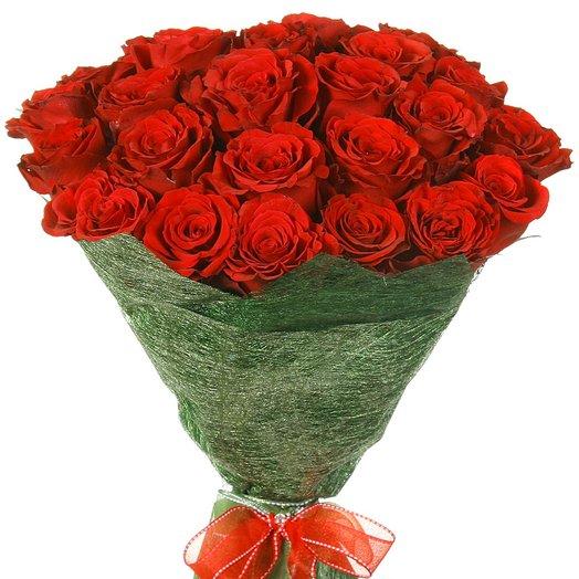 """25 красных роз """"Апер Класс"""": букеты цветов на заказ Flowwow"""