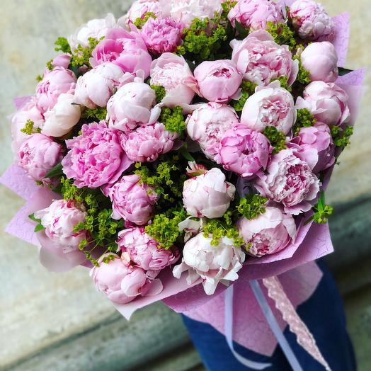 Море пионов: букеты цветов на заказ Flowwow