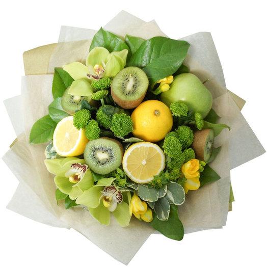 Фруктовый букет из лимонов : букеты цветов на заказ Flowwow