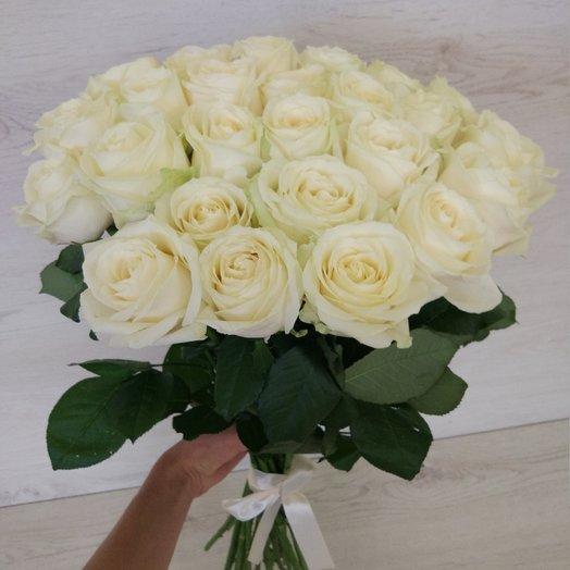25 белых роз в букете: букеты цветов на заказ Flowwow