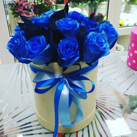 15 Синих роз в Коробке