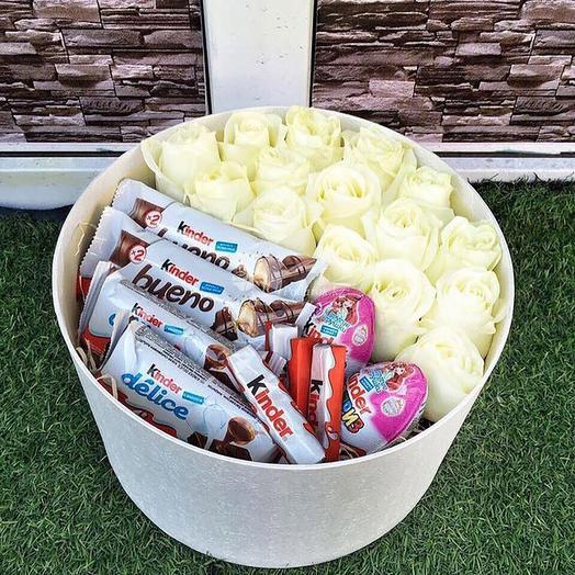 Коробочка со сладостями 10: букеты цветов на заказ Flowwow