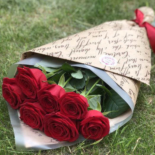7 red roses: flowers to order Flowwow