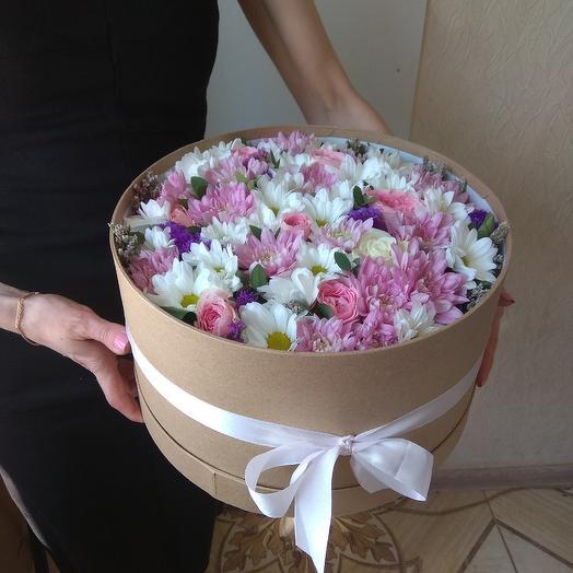 Шляпная коробка большой размер: букеты цветов на заказ Flowwow