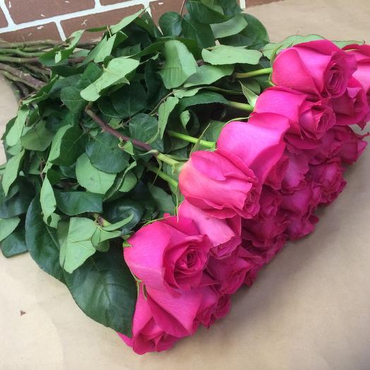 25 Роз Эквадор 70 см: букеты цветов на заказ Flowwow