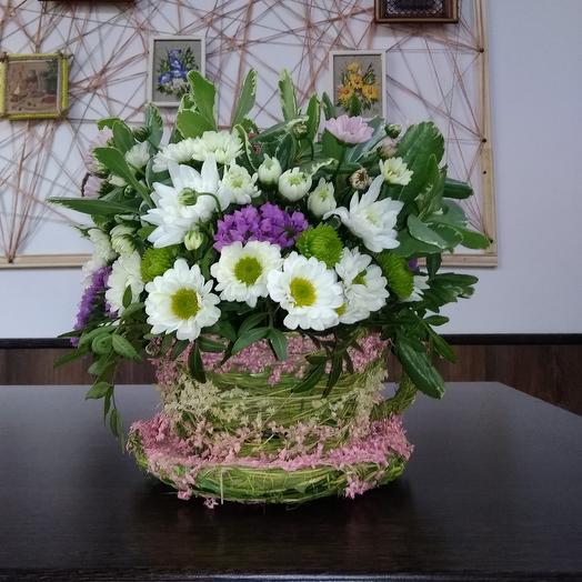 """Композиция""""Чашка ромашкового чая"""": букеты цветов на заказ Flowwow"""