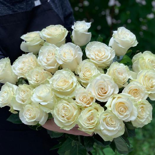 Букет из 27 белых роз 70 см: букеты цветов на заказ Flowwow
