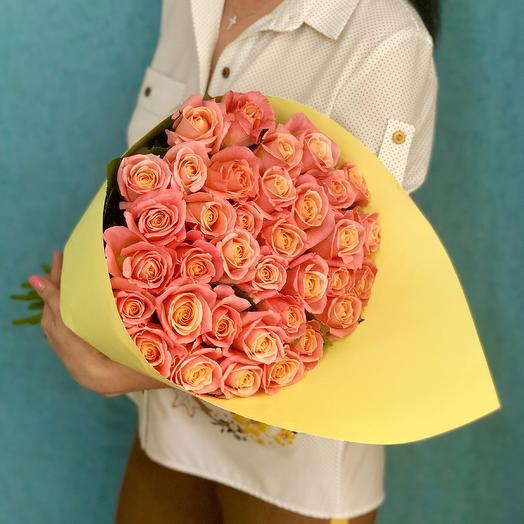 Букет из роз «Пьянящий Апероль»: букеты цветов на заказ Flowwow