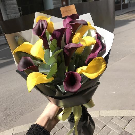 Шикарные каллы для шикарной леди: букеты цветов на заказ Flowwow