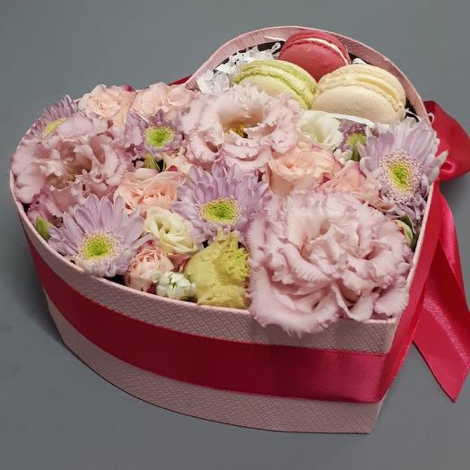 Большое розовое сердце: букеты цветов на заказ Flowwow