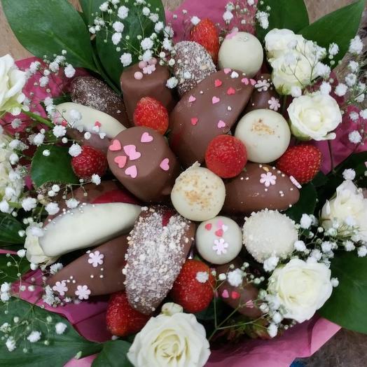 Букет из фруктов в шоколаде: букеты цветов на заказ Flowwow