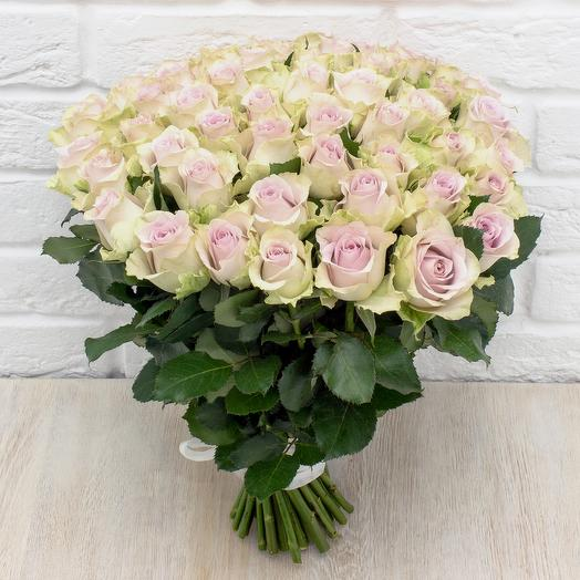51 сереневая роза 40 см