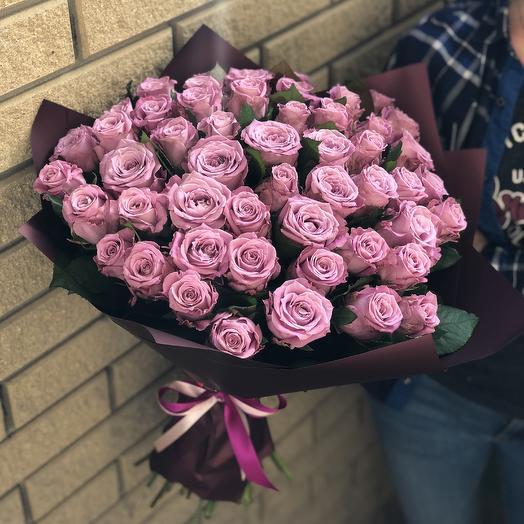 Букет из 51 лиловой розы