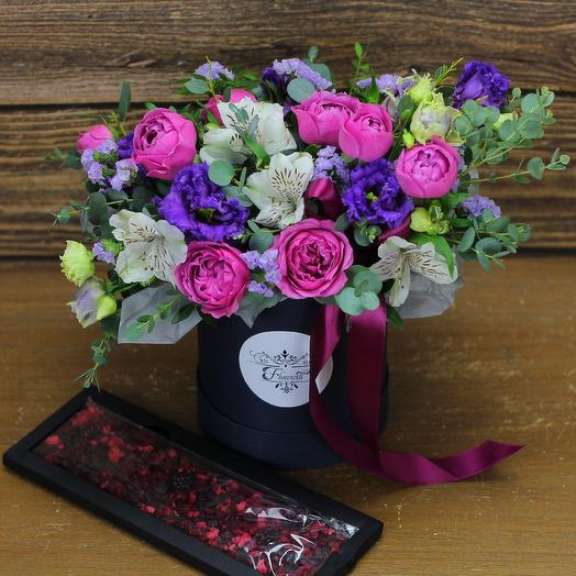 Поцелуй ночи: букеты цветов на заказ Flowwow