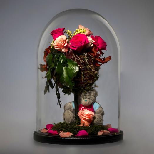 "Композиция ""Мое сердце - твое"": букеты цветов на заказ Flowwow"