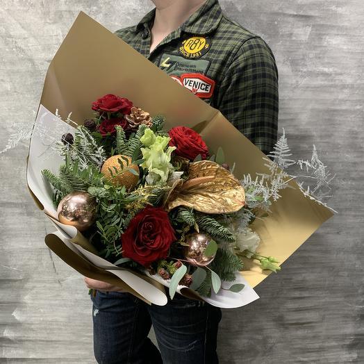 Яркий букет «Золотое настроение»: букеты цветов на заказ Flowwow