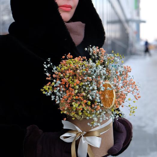 Яркое облако гипсофилы: букеты цветов на заказ Flowwow