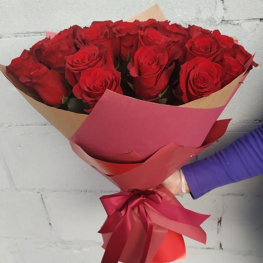 Букет 31 красная роза Эквадор