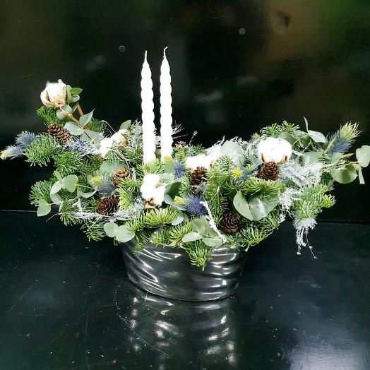 Зимняя композиция: букеты цветов на заказ Flowwow