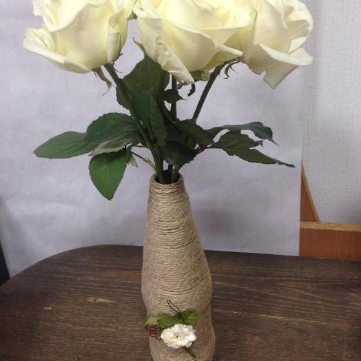 Букет с вазой ручной работы 3: букеты цветов на заказ Flowwow