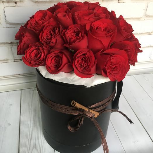Шляпная коробка с розами 1