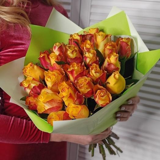 25 роз Fire 🔥: букеты цветов на заказ Flowwow