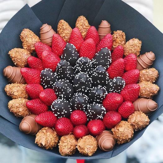 Букет из Клубники в Шоколаде «Жемчужина»