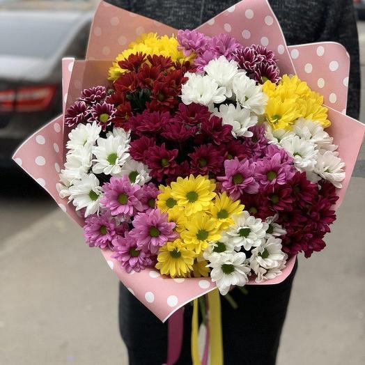 Букет из 15 кустовых хризантем