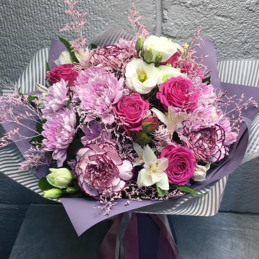 Букет Сиреневые нотки: букеты цветов на заказ Flowwow