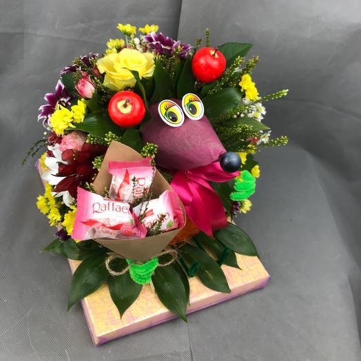 Джентльмен с конфетами: букеты цветов на заказ Flowwow