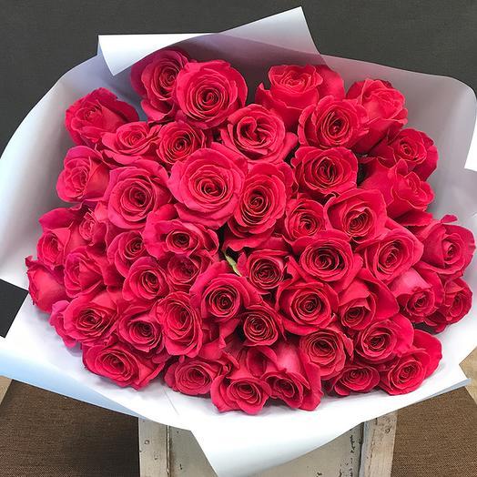Роза (Эквадор) 50 см 51 шт. в упаковке
