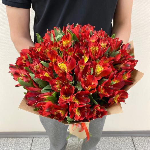 15 красных альстромерий️: букеты цветов на заказ Flowwow