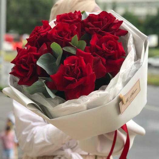 Букет с крупными розами Казань