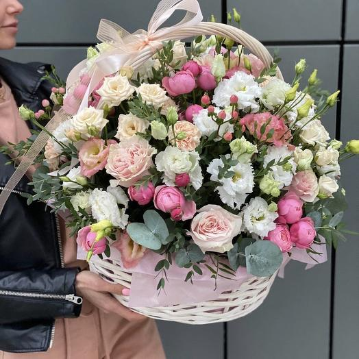 Basket of the best flowers