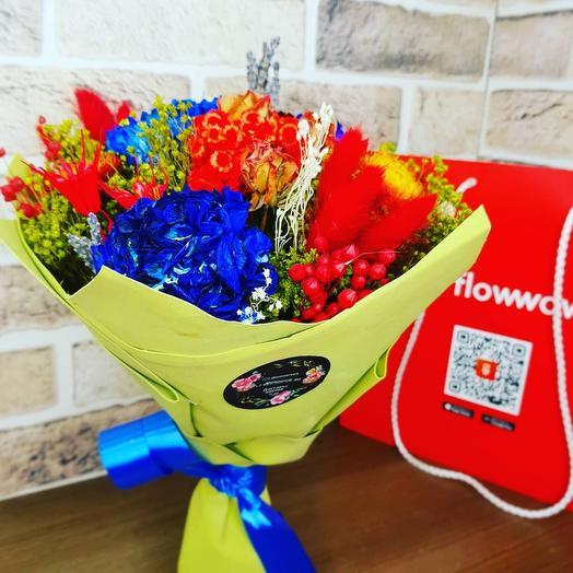 Букет из сухо цветов с лавандой
