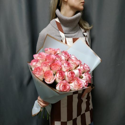 """Букет""""25 розовых роз"""""""