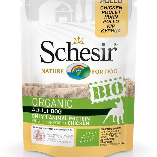 Schesir Bio консервы для собак с курицей 85 г