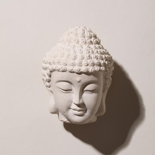 Статуэтка голова Будды (белая)