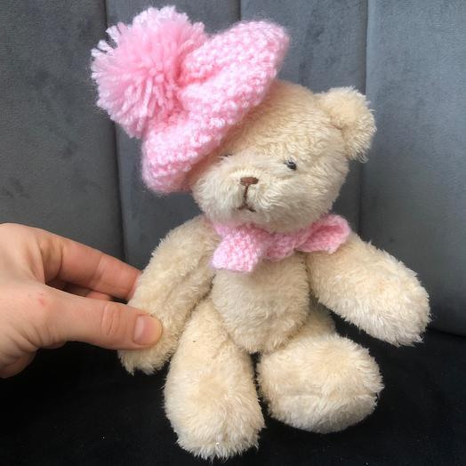 Мишка девочка ручной работы 19 см