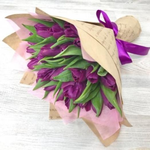 25 purple tulip