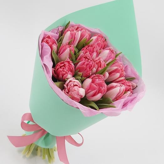 Фокстрот: 15 пионовидных тюльпанов