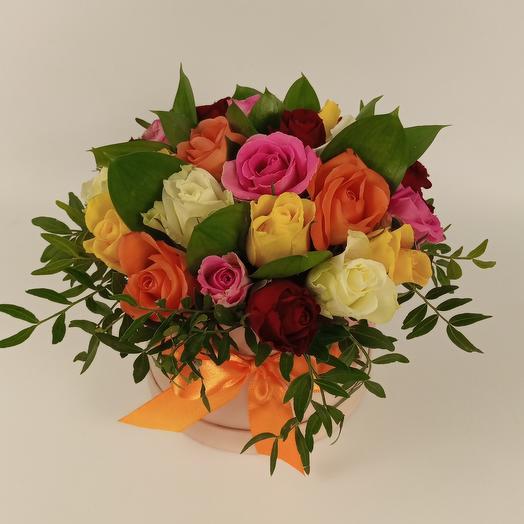 Ассорти роз в коробке