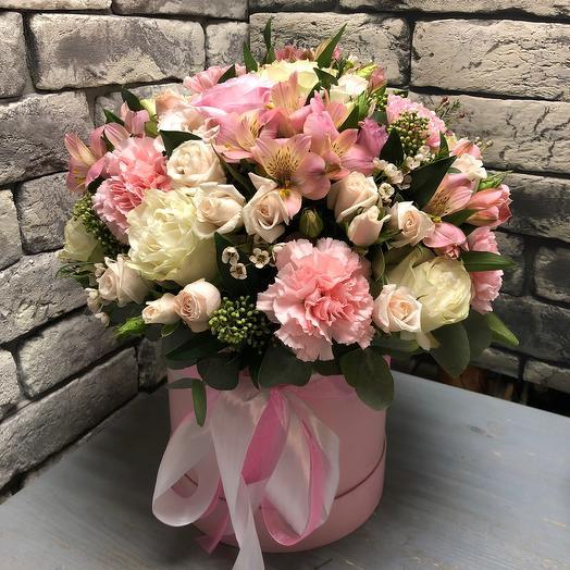Цветы в коробке « С любовью»