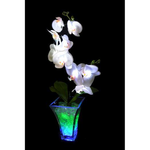 Светильник Орхидея белый(син-зел) 9 цветков