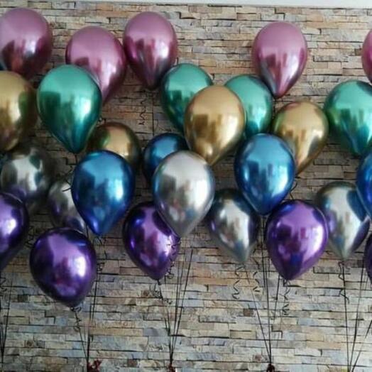 Гелиевые хромированные шары