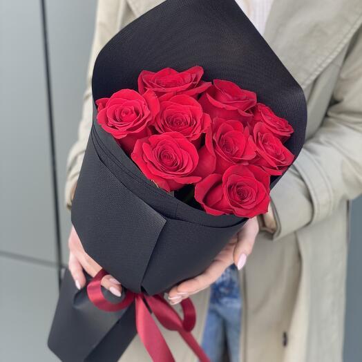 Букет из красных роз Страстный