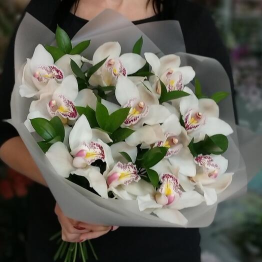 Орхидея с рускусом