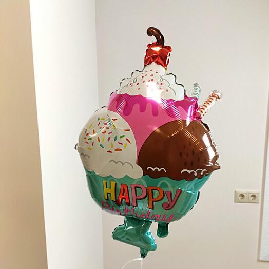 Воздушный шар с гелием / Мороженое в креманке